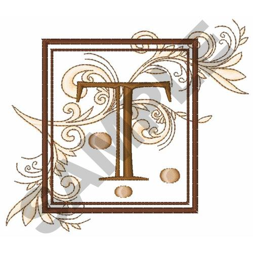 fancy square letter t embroidery design annthegran
