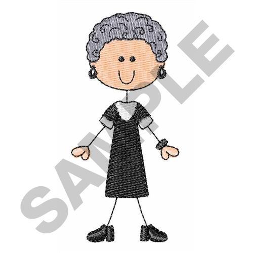 Grandma Stick Figure Embroidery Design Annthegran