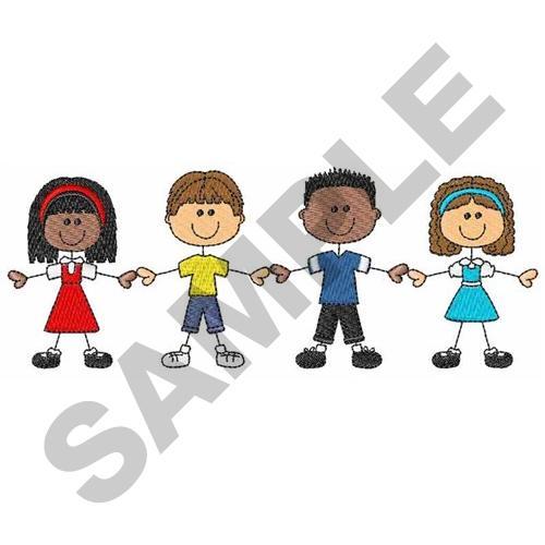 School Children Embroidery Design Annthegran
