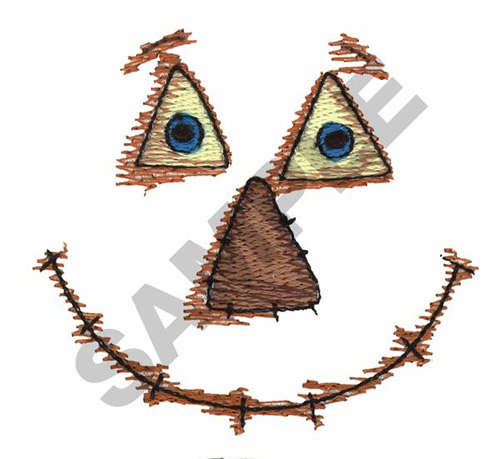 scarecrow face embroidery design annthegran