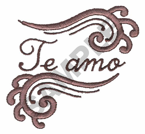 TE AMO Embroidery Design AnnTheGran