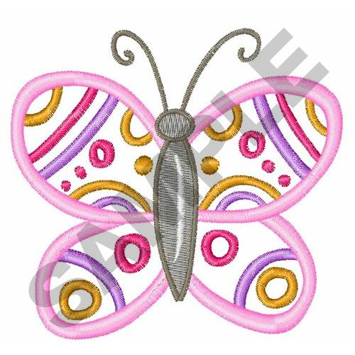 Kids Applique Butterfly Embroidery Design Annthegran