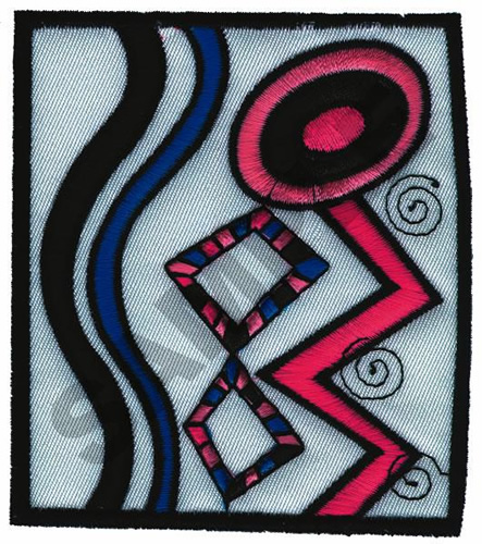 Geometric applique embroidery design annthegran