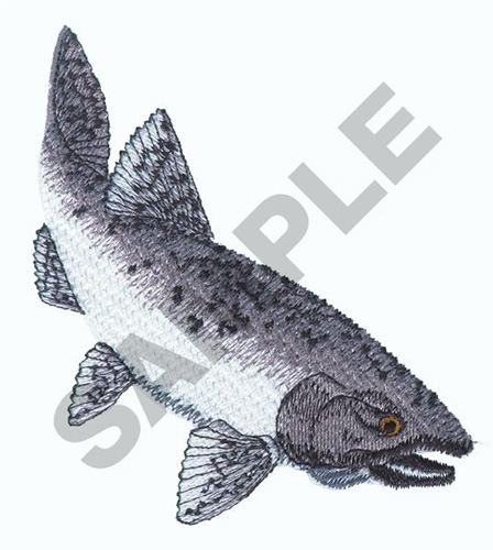 Chinook Salmon Embroidery Design Annthegran