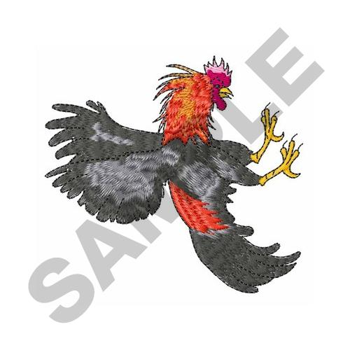 FIGHTING COCK Embroidery Design | AnnTheGran