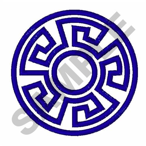 Greek Key Circle Embroidery Design Annthegran