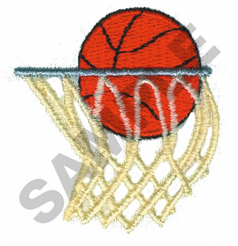 Basketball and hoop embroidery design annthegran