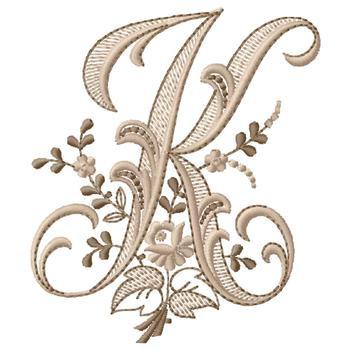 Monogram K Embroidery Design Annthegran