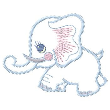 Baby Elephant Embroidery Design  AnnTheGran