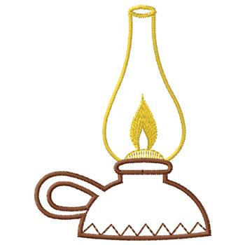 Oil Lamp Embroidery Design