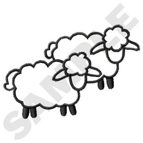 Sheep Outline Embroidery Design | AnnTheGran