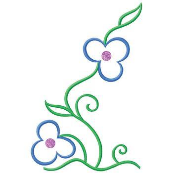 flower vine outline embroidery design annthegran