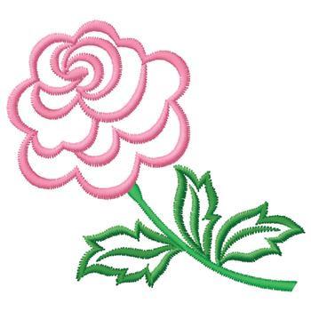 Pink Flower Outline Embroidery Design  AnnTheGran