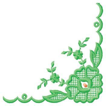 Flower Corner Design Embroidery Design Embellishments