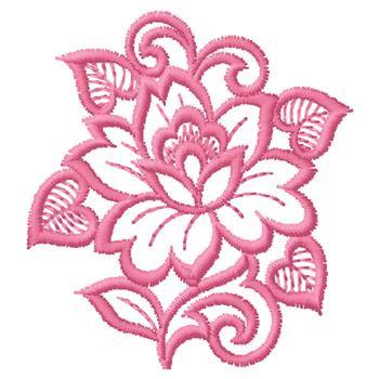 Pink flower outline embroidery design annthegran mightylinksfo