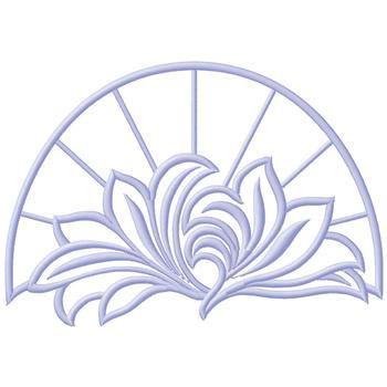 Flower Outline Border Embroidery Design | AnnTheGran