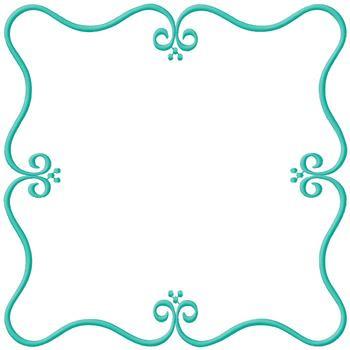 Square Scroll Border Embroidery Design Annthegran