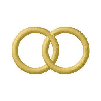 Wedding Rings Embroidery Design | AnnTheGran