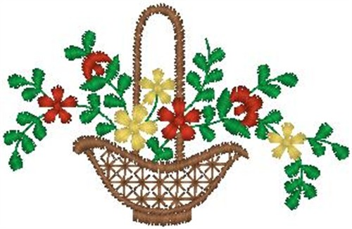 Free Flower Basket Embroidery Designs : Basket of flowers embroidery design annthegran