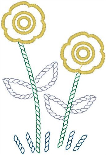 Simple Flower Outline Embroidery Design Annthegran