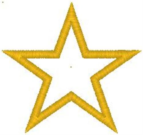 Yellow Star Embroidery Design  AnnTheGran