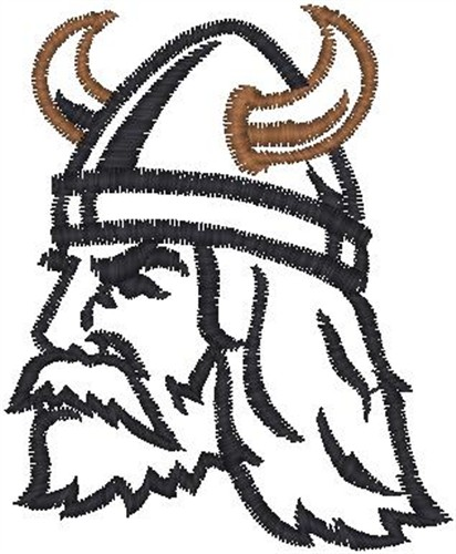 Viking face embroidery design annthegran