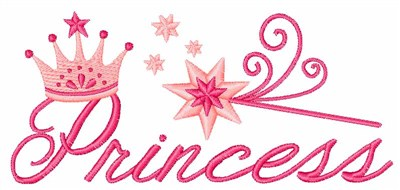 Princess Crown Embroidery Design People Embroidery