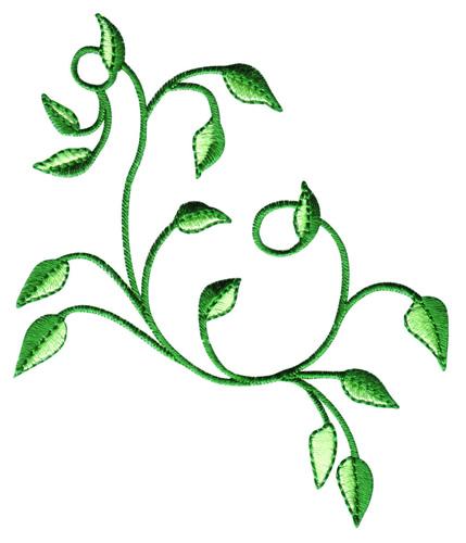 Swirl vine embroidery design annthegran