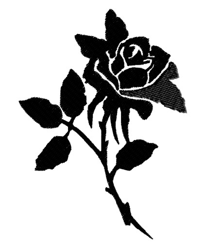 Black Rose Embroidery Design