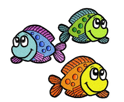 Three spotted fish embroidery design annthegran for Fishing kings free