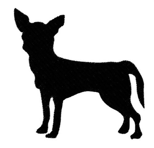 Chihuahua Silhouette Embroidery Design Annthegran