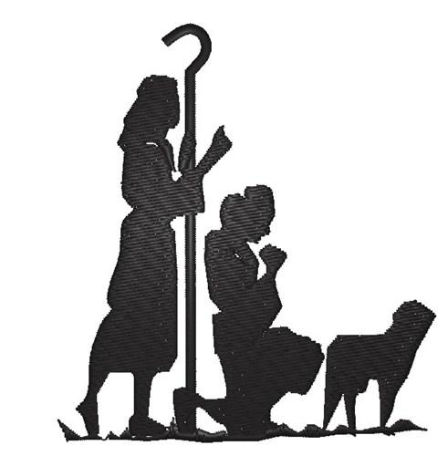 nativity silhouette embroidery design annthegran