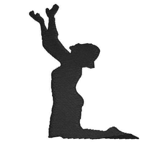 Praying Silhouette Embroidery Design | AnnTheGran