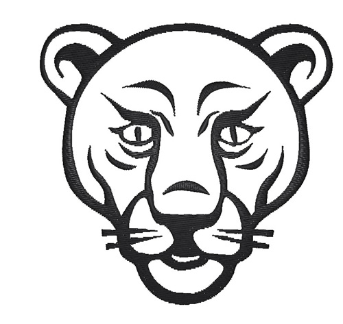lion face outline embroidery design annthegran
