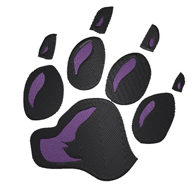 Panther Paw Print Embroidery Design