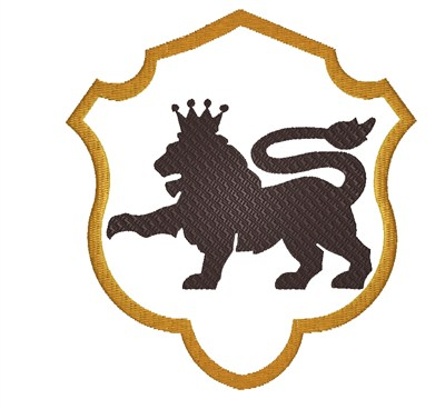 royal lion crest embroidery design annthegran