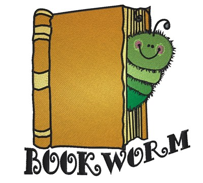 Cartoon Bookworm Embroidery Design Annthegran