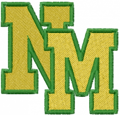 Letters NM Embroidery Design | AnnTheGran