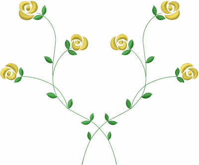 Flower Vines Embroidery Design Annthegran