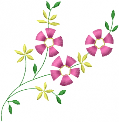 Little Flowers Embroidery Design Annthegran