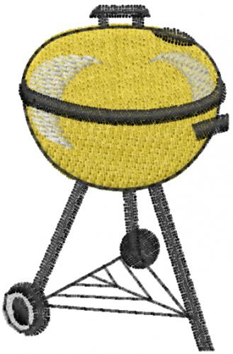 Bbq Grill Embroidery Design Annthegran