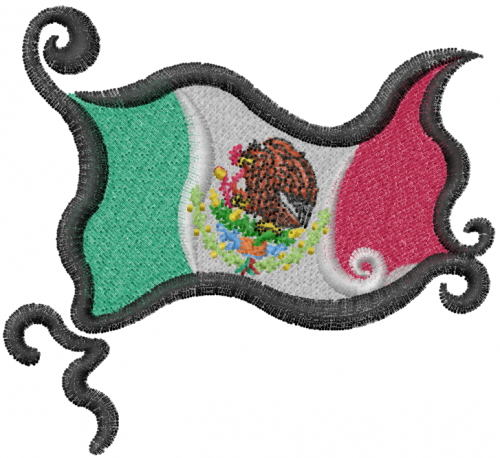 Mexican flag embroidery design annthegran