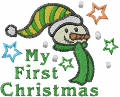 My First Christmas Embroidery Design   AnnTheGran