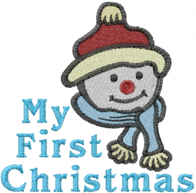 First Christmas Embroidery Design  Sayings Embroidery
