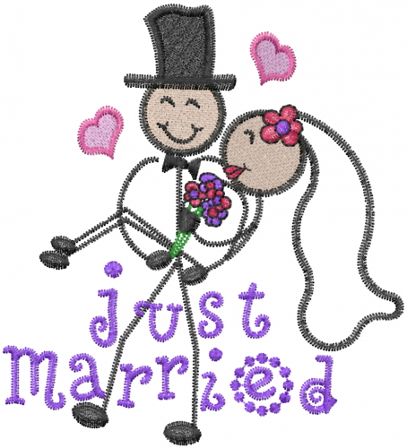 Just married embroidery design annthegran Married to design