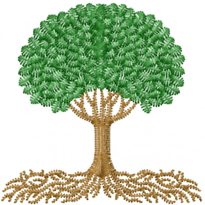 Tree Roots Embroidery Design Annthegran