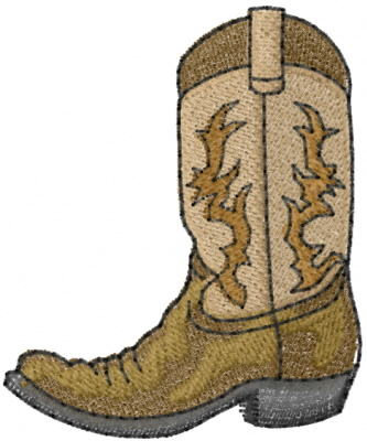 Cultural Embroidery Design: Cowboy Boot from Machine Embroidery ...