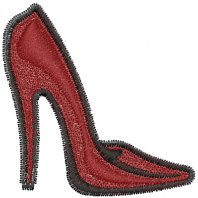 High Heel Shoe Embroidery Designs