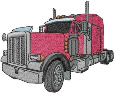 Semi Truck Embroidery Design  AnnTheGran