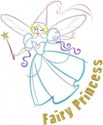Fairy Princess Embroidery Design Annthegran